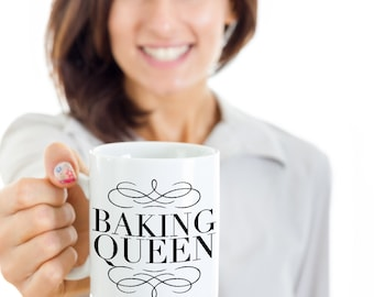 Baking Mug Baking Queen Coffee Mug Ceramic Tea Cup - Cute Gifts for Bakers and Pastry Chefs