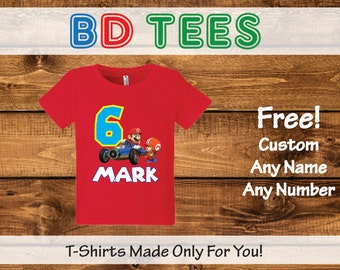 salesale Super Mario Brothers Birthday T Shirt Personalized - nintendo wii video.