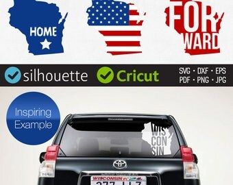 Wisconsin svg cut files clipart design for Cricut download Wisconsin monogram svg cuttable for Silhouette dxf Home American state Iron on