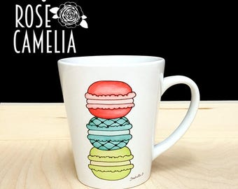 Macaroons Mug, Cookies coffee mug