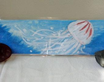 Watercolor Jellyfish Bookmark