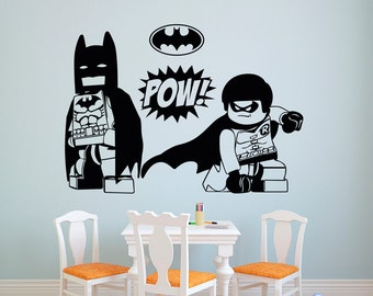 Batman Wall Decals Roselawnlutheran - Lego superhero wall decals