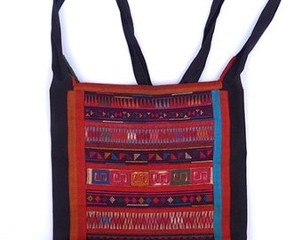 Embroidered Hill Tribe Small Shoulder Bag Boho Hippie style Akha Passport Bag