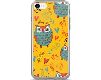 Owl iPhone Case, Phone Case Owl, Owl Phone Case, Protective iPhone Case, iPhone 7 Case, iPhone 6 Case, iPhone 5 Case, Owl Gifts, Owl Lover