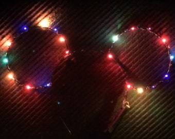 Multicolored Light-up LED ears