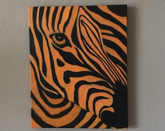 Obscured in Orange. Original painting