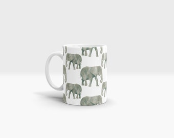 Elephants Mug. 11oz Ceramic Mug.