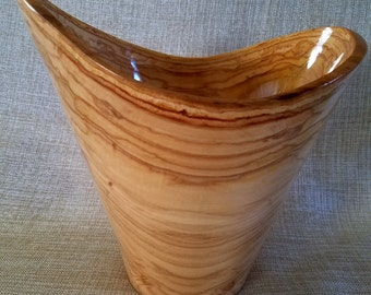 Poplar Bowl Wooden Vessel Lathe Turned Art