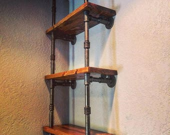 Industrial Shelving - Pipe Shelves, Organization, Storage, Home Decor, Library, Modern, Vintage, Steampunk, Machine Age,  *Free Shipping