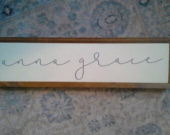 "CUSTOM baby/kids name sign 7""x26"""