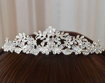 Crystal, Crystal Crown,Bridal Tiara,Swarovski Crystal,Wedding tiara,Crown,Czech stones,accessory,royal diadem.