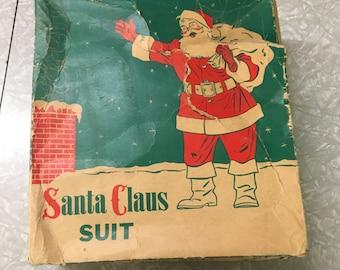 1950s Complete Santa Suite in Original Box
