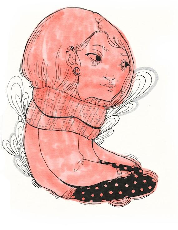 Thoughts - Giclée Art Print 8x10