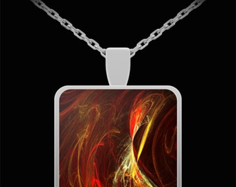 Amazing Abstract Flame Necklace