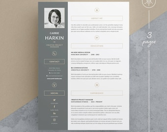 Sql Server Resume Pdf Tamara Resumecv Template Word Photoshop Indesign Good Summary For Resume Excel with Writing A Good Resume Carrie Resumecv Template  Word  Photoshop  Indesign  Professional  Resume Design  Manager Resumes Word