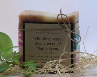 Wild Raspberry, Strawberry, and Maple Syrup