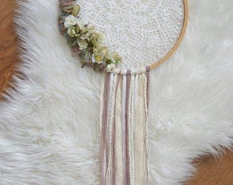 Crocheted Floral Dreamcatcher