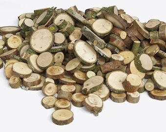 1000+ Small Various Wood Slices, Bulk Various Tree Slice Assortment, Floristry supply, Tree Wood Circles Rounds Branch Slices Rustic Bargain