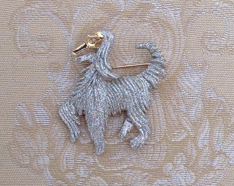 Exquisite and rare Vintage Afghan Hound Brooch/Pin