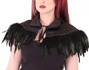 Satin  Whitby Feather Cape