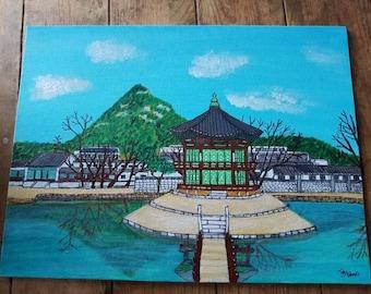 Custom Acrylic Location painting!