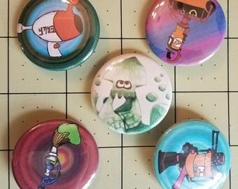 Splatoon Pinback Button Set