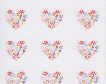 Flower Hearts | 152 | Planner Sticker | Kikki-K | Happy Planner | Erin Condren