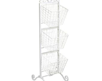 White metal display shelf