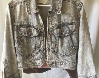80's acid wash jean jacket
