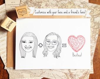 Printable Custom Best Friend Card, Printable Friend Birthday Card, Printable Custom Bridesmaid Card,Printable Bridesmaid Card,Printable Card