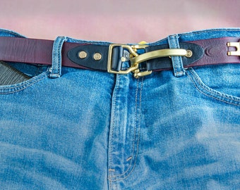 Natural leather belt men leather belt Brass buckle. Full grain vegetable tanned leather belt Genuine leather belt.