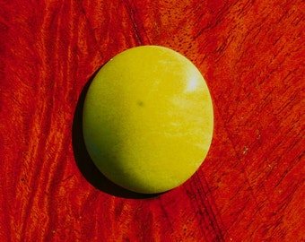 Lemon Serpentine Designer Cabochon