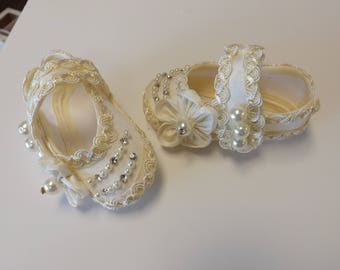 Baby girl shoes, christening shoes