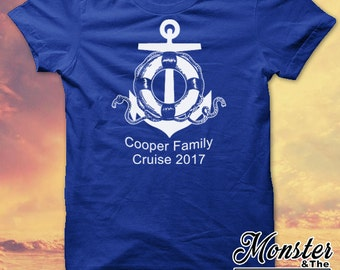 Personalized Anchor and Lifesaver Family Cruise T-Shirt Bundle
