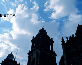 Digital Photography   Church Silhouette   Sky Photography   Mexico  Travel Photography   Architecture Photo   Easter Gift