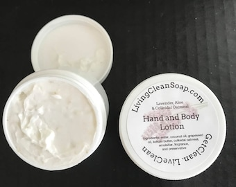 Lavender, Aloe & Colloidal Oatmeal Hand and Body Lotion Hand made Lotion