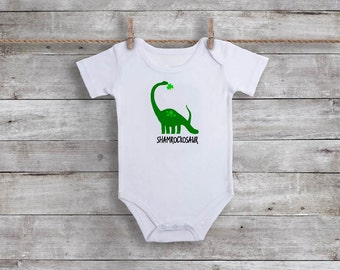 St. Patrick's Day Shirt for Boys - Dinosaur Shirt - St. Patrick's Day Bodysuit - St. Patrick's Day Baby - Toddler St Patricks Day Shirt