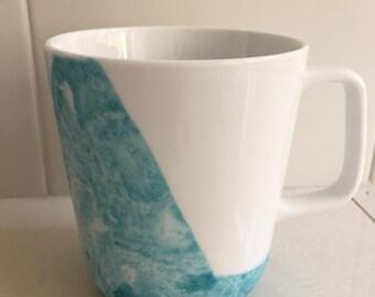 Marbled Porcelain Mug - Blue