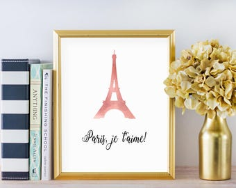 Eiffel Tower Print Paris Wall Decor Eiffel Tower Wall Art Paris Wall Art Paris Print Paris Bedroom Decor Paris Theme Party French Prints