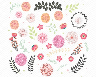 Leaves Background SVG- Silhouette Studio or Cricut Explore- Instant Download- Vinyl files- Cut Design- Clipart Leaves- Floral Ornaments, dxf