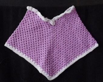 Lavender crochet Baby Poncho