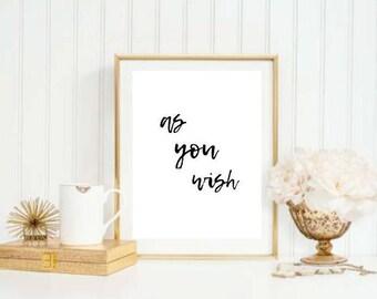 As You Wish Princess Bride Printable
