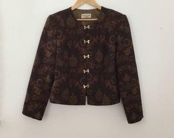 Vintage Floral Cropped Jacket