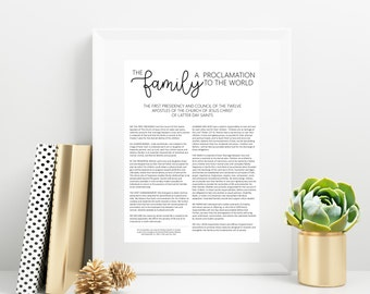 The Family Proclamation | 8x10, 11x14 | Digital Print | Instant Download | Inspirational | LDS