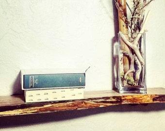 Natural Live Edge Shelf