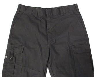 SALE* Vintage Clothing • 1990's Classic Dickies Pants • Black Cargo Pants • Skater Pants • Workwear • Cotton Blend