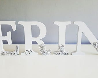 Wooden Letters - Name in Medium Capitals - Custom Home Decor - Personalised Wooden Letters - Nursery Room