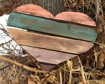Heart, Love, Reclaimed Wood, Art, Garden, Decor