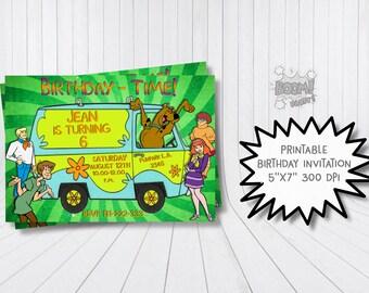 Scooby doo invitation, Scooby doo birthday invitation, Scooby doo birthday party, Scooby doo printable invitation, Scooby and Shaggy