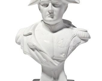 French Emperor Napoleon Bonaparte Marble Bust / Statue 13.5cm (5.3'') white
